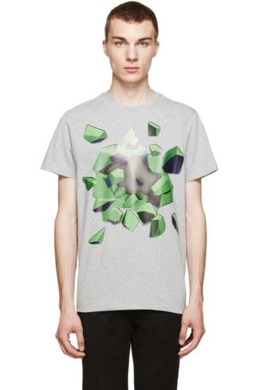 Christopher Kane - Heather Grey Explosion T-Shirt