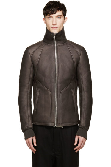 Rick Owens - Grey Shearling Zenda Jacket