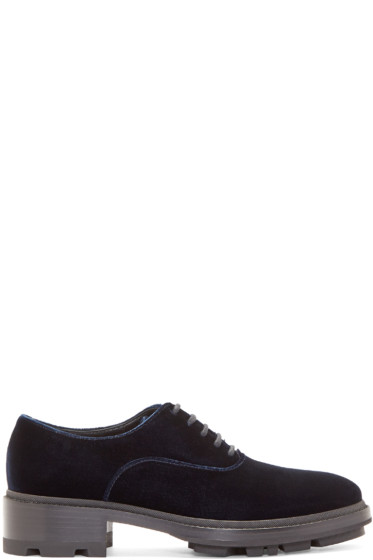 Jil Sander - Navy Velvet Oxfords