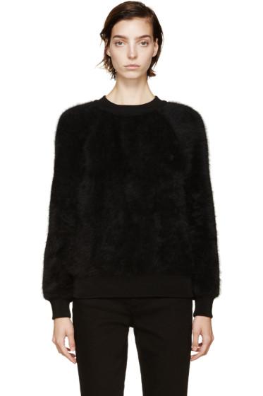 Balmain - Black Angora Wool Sweater