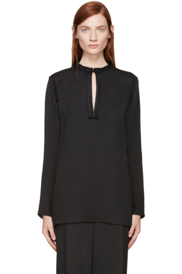 Lanvin - Black Silk Blouse