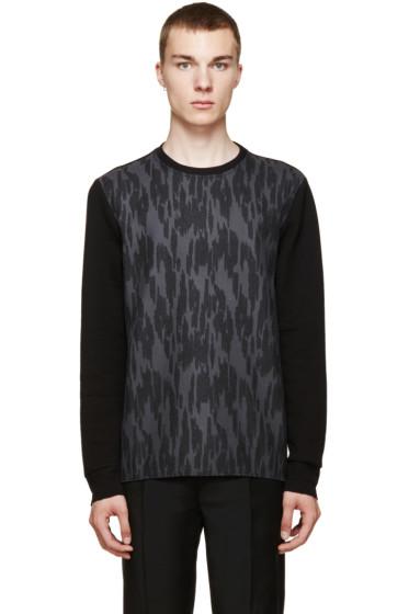 Lanvin - Black & Grey Jacquard Sweatshirt