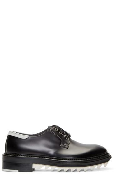 Lanvin - Black & White Leather Derbys