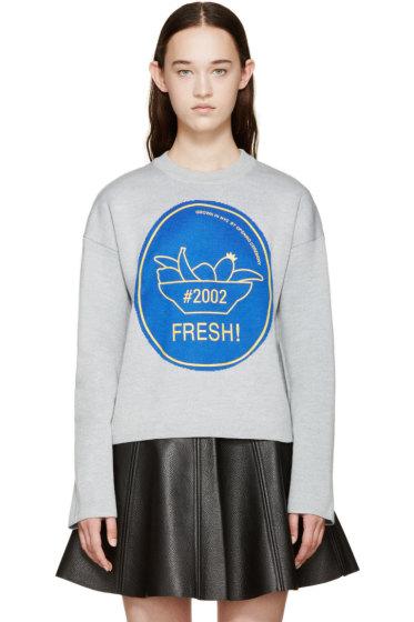 Opening Ceremony - Grey & Blue 'FRESH!' Merino Sweater