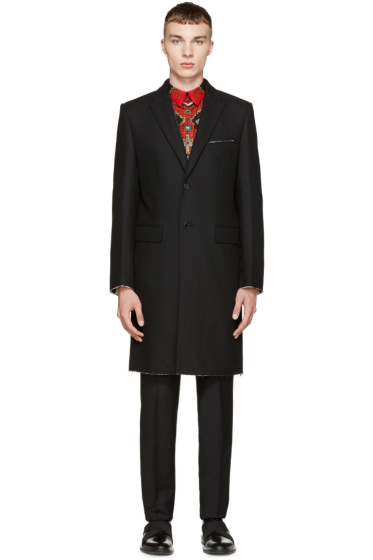 Givenchy - Black Wool Single-Breasted Coat