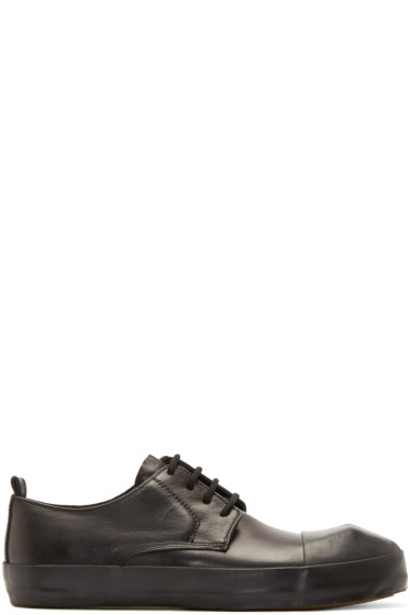 Ann Demeulemeester - Black Leather Sneakers