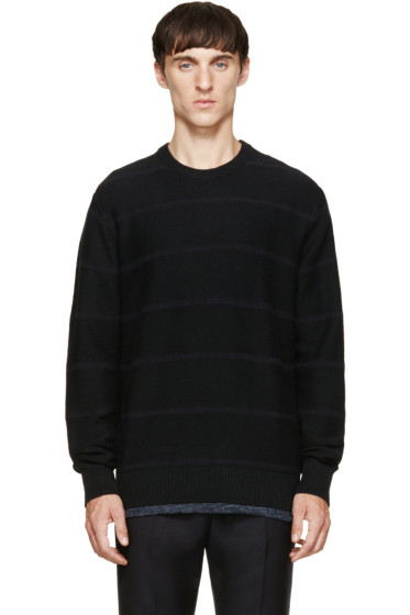 Paul Smith Jeans - Black Striped Knit Sweater