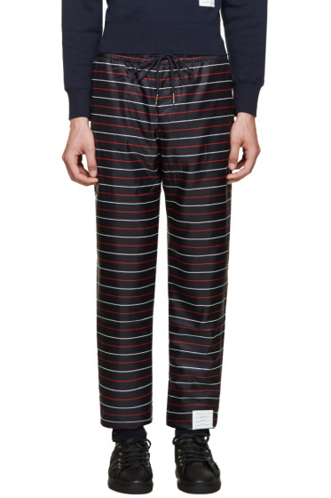 Thom Browne - Navy Striped Lounge Pants