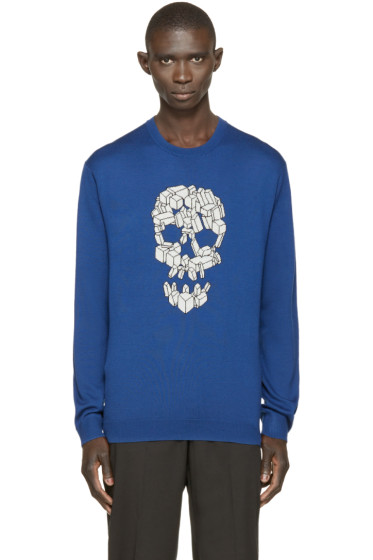 Markus Lupfer - Blue Skull Jason Sweater