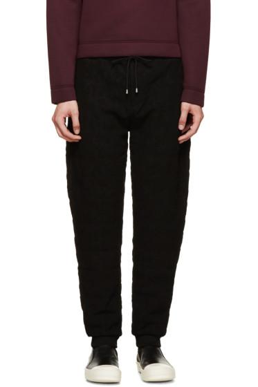 Kenzo - Black Flocked Symbols Sweatpants