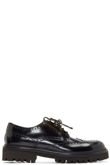 Versus - Black Leather New Brogue Shoes