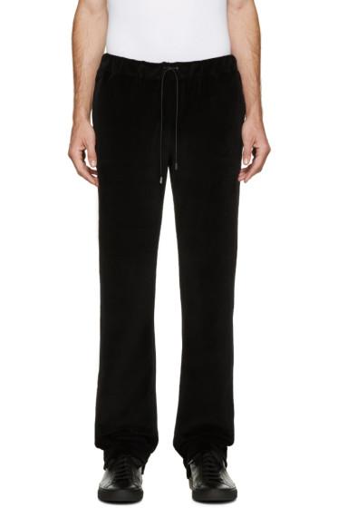 Versace - Black Velour Tracksuit Pants