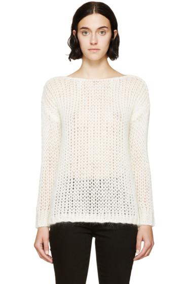 Saint Laurent - Ivory Open-Knit Sweater