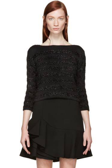 Saint Laurent - Black Metallic Striped Sweater
