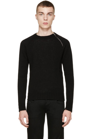 Saint Laurent - Black Zipper Sweater