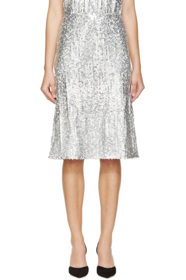Nina Ricci - Silver Sequined Skirt