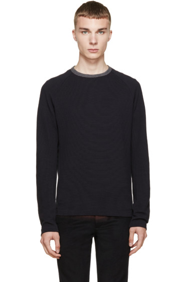 Kolor - Navy Ribbed Sweater