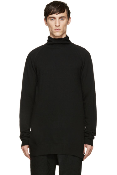 D.Gnak by Kang.D - Black Knit Hooded Turtleneck