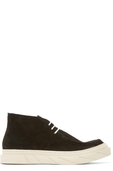 D.Gnak by Kang.D - Black Suede Desert Boat Boots