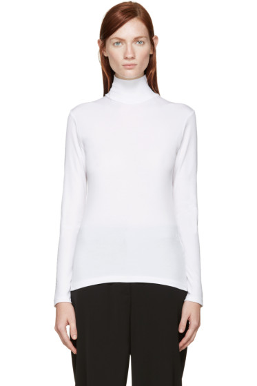 Yohji Yamamoto - White Turtleneck Shirt
