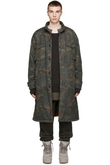 YEEZY Season 1 - Brown & Green Camouflage Trenchcoat