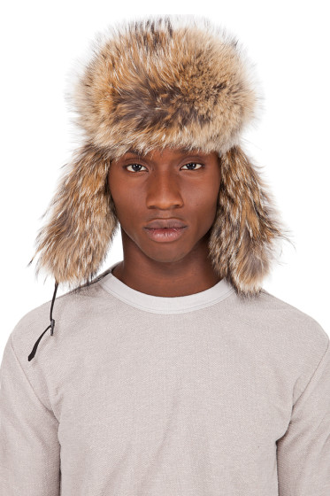 Canada Goose - Black Coyote Fur Aviator Hat