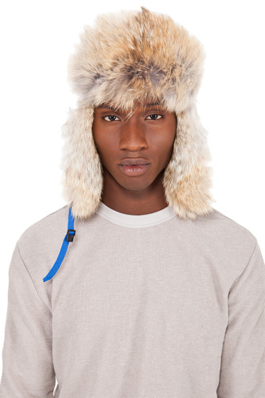 Canada Goose - Blue Coyote Fur Aviator Hat