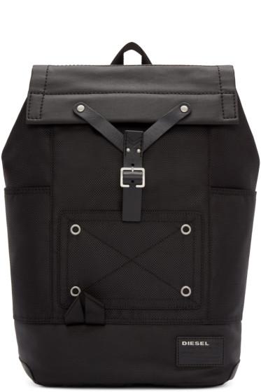 Diesel - Black Nylon Whybe Backpack