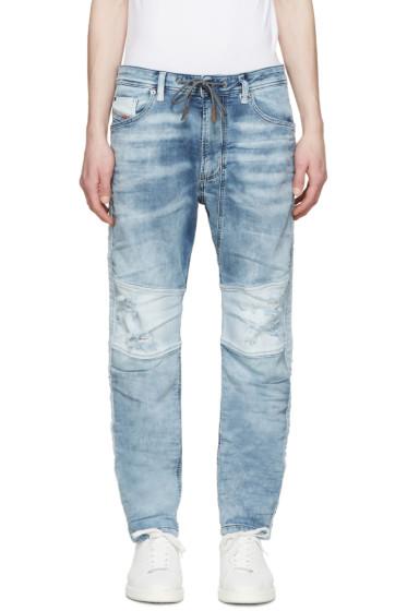 Diesel - Blue Distressed Narrot-Ne Jogg Jeans