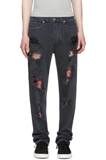 Diesel - Black P-Cheyenne-Destroy Jeans