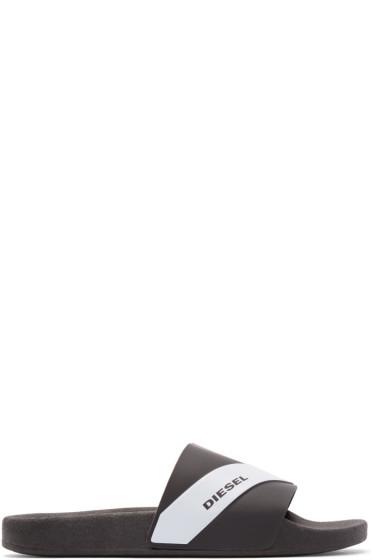 Diesel - Black Rubber Maral Sandals