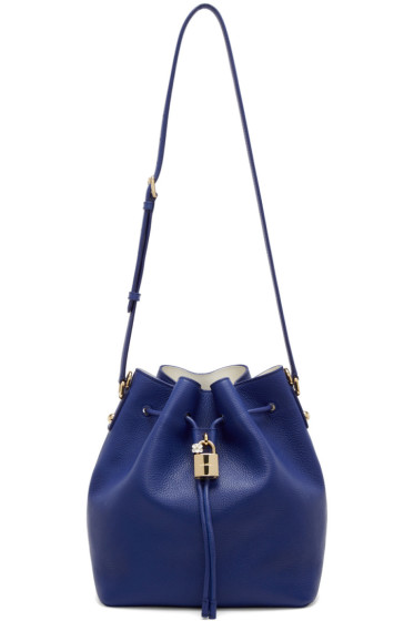 Dolce & Gabbana - Blue Leather Claudia Bucket Bag