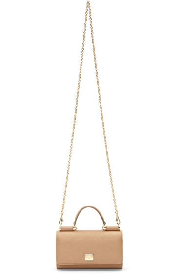 Dolce & Gabbana - Tan Small Von Shoulder Bag