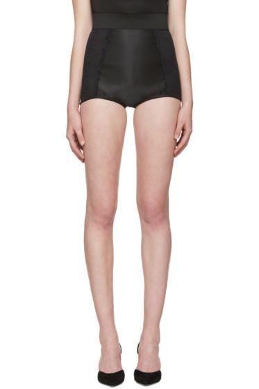 Dolce & Gabbana - Black High-Rise Lace Briefs