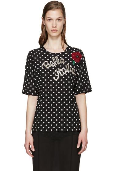 Dolce & Gabbana - Black & White Italia Blouse