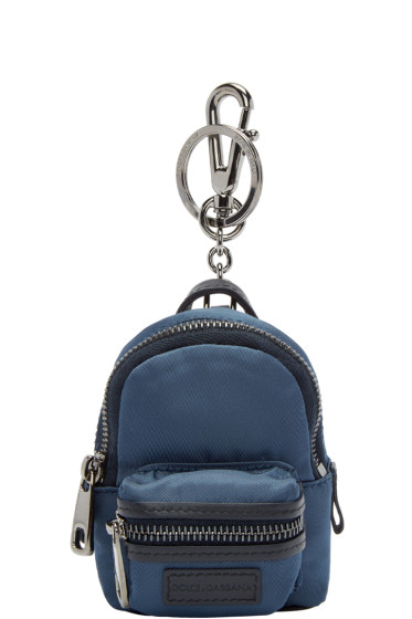 Dolce & Gabbana - Navy Mini Backpack Keychain