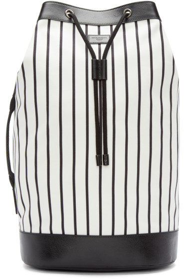 Dolce & Gabbana - Black & White Striped Backpacked