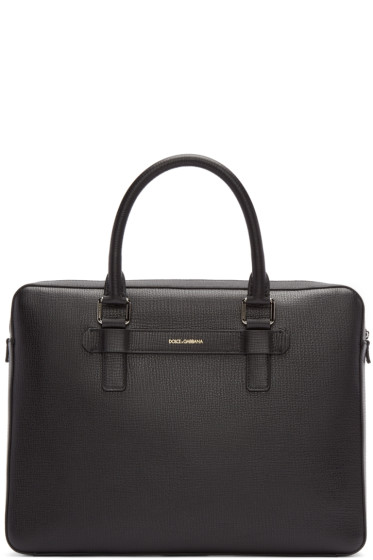 Dolce & Gabbana - Black Grained Leather Briefcase