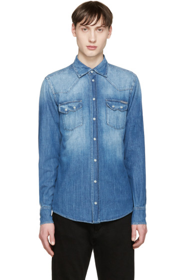 Dolce & Gabbana - Blue Denim Shirt