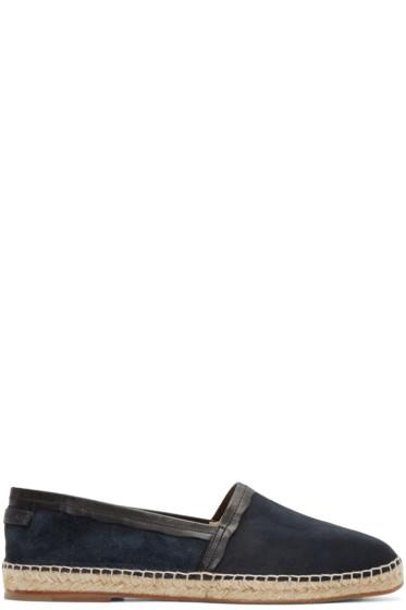 Dolce & Gabbana - Navy Suede Espadrilles