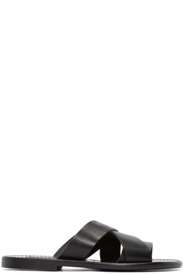 Dolce & Gabbana - Black Leather Multi-Strap Sandals