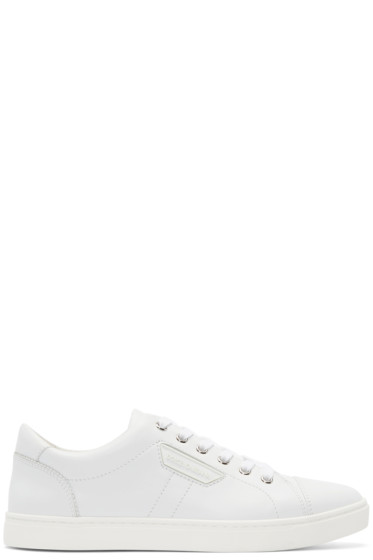 Dolce & Gabbana - White Leather London Sneakers