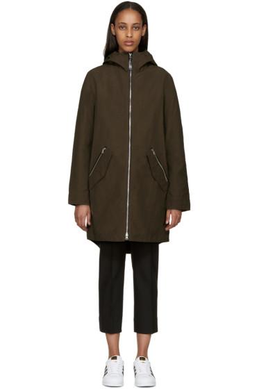 Mackage - Khaki Waxed Cotton Sonya Coat