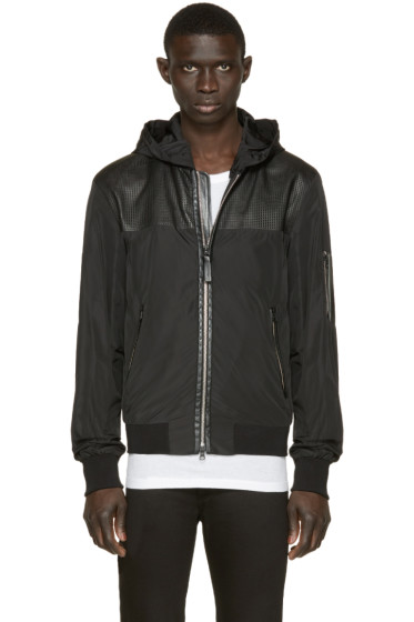 Mackage - Black Perforated Bradford Rain Jacket