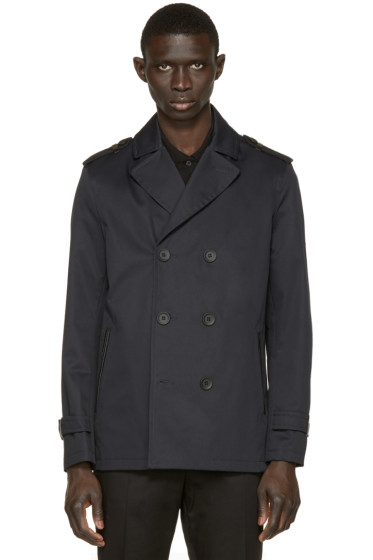 Mackage - Navy Twill Alwyn Trench Coat