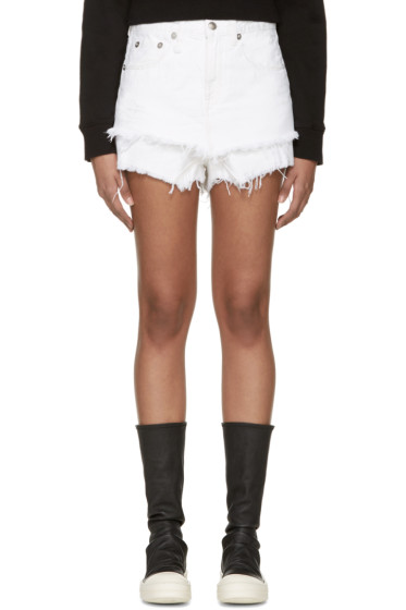 R13 - White Layered Shorts
