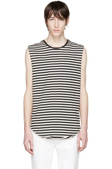 R13 - Black & White Striped T-Shirt