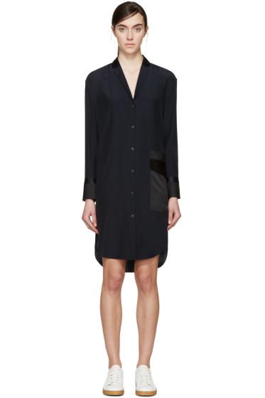 Rag & Bone - Navy Silk Ava Shirt Dress