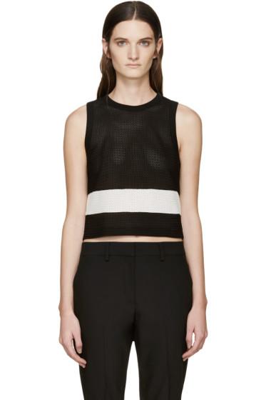 Rag & Bone - Black & White Knit Valerie Tank Top