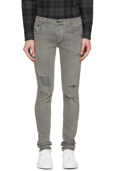 Rag & Bone - SSENSE Exclusive Grey Standard Issue Fit 0 Jeans